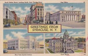 New York Syracuse Greetings From Syracuse Multiples 1945