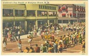 pc5267 postcard Hampton Beach NH Children's Day Parade