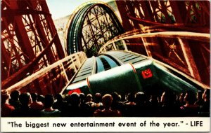 Cinerama Movie Theatre-Roller Coaster on Screen-Vintage Advertising  POSTCARD