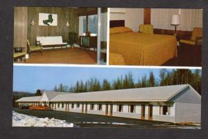 ME Dexter Motor Lodge Motel Maine Postcard Al Jackie Tempesta Carte Postale PC