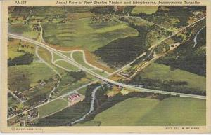 Pennsylvania Bedford Aerial View Of New Station Viaduct And Interchanges