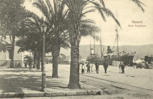 france corsica corse, AJACCIO, Quai Napoleon, Harbour Steamer (1910s)