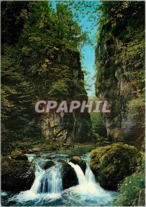 Modern Postcard Picturesque Cantal No beautiful rocky defile Cere