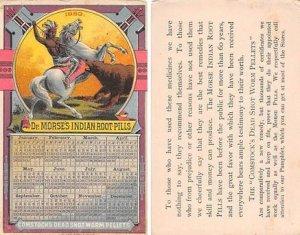 Victorian Trade Card Calander 1883Approx size inches = 3 x 4.5 Pre 1900 corne...