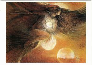 Raven's Love of Light by Susan Seddon Boulet Visionary Art Postcard