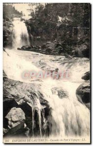 Old Postcard From Around Cauterets waterfalls Bridge & # 39Espagne
