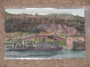 Gold Dredging on Sacramento River, near Marysville, Calif., unused vintage card