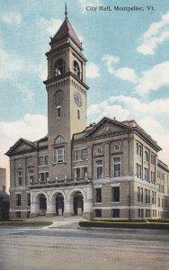 MONTPELIER, Vermont, 1900-1910's; City Hall