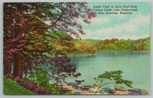 Somerset KY~Lee's Ford Dock~Fishing Creek~Lake Cumberland~Vintage PC