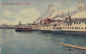 BALTIMORE, Maryland, PU-1912; Bay Steamers