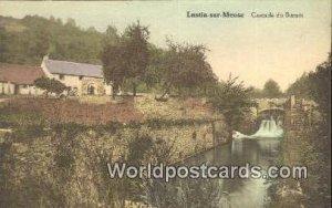 Cascade du Burnot Lustin-sur-Meuse, France, Carte, Writing on back
