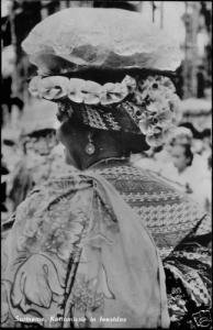 suriname, Native Kottomissie in Party Dress, Costumes