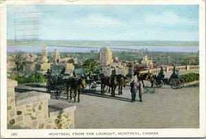 postcard Canada Montreal from the Lookout posted 1952 Red Feather Slogan cancel