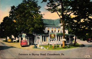 Pennsylvania Canadensis Entrance To Skytop Road
