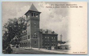 Postcard MA Southbridge Fire Department Headquarters c1905 View U02