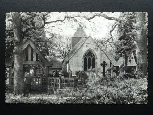 Sussex HOLLINGTON St. Leonards Church in the Wood - Old RP Postcard