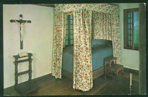 French Bedroom Illinois House Crucifix Phillippe Liebert Chicago IL Postcard