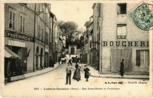 CPA Lons le Saunier- Rue Saint Desire et Prefecture FRANCE- (1044297)