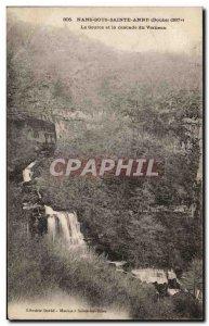 Old Postcard Nans-sous-Sainte-Anne La Source and waterfall Verneuau
