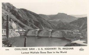 RP: Coolidge Dam - U.S. Highway 70, Arizona , 1940s; FRASHERS X3481