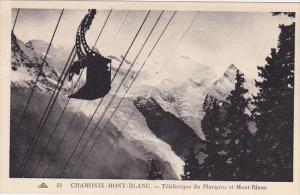 CHAMONIX-MONT-BLANC, Teleferique du Planpraz et Mont-Blanc, Haute Savoie, Fra...