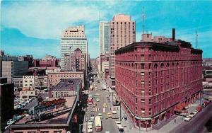 Birdseye Cooper Denver Colorado 1960s Seventeenth Street Wall Postcard 12600