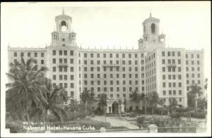 cuba, HAVANA HABANA, National Hotel (1940s) EKC RPPC
