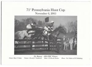 Pennsylvania Hunt Cup 2005 Fundraising Drive Card Horses