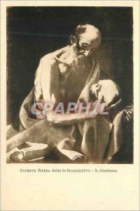 Postcard Old Guseppe Ribera Detto lo Spagnoletto S Girolamo