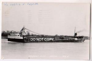 RPPC, Steamer Harris N Snyder, Rogers City Mich