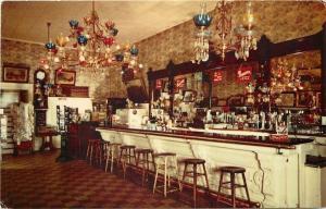 Virginia City NV~Crystal Bar Saloon~Inside~Postcard Rack~Roi Tan Cigar Box~1950s