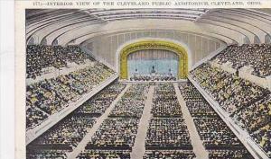 Ohio Cleveland Interior View Of The Public Auditorium