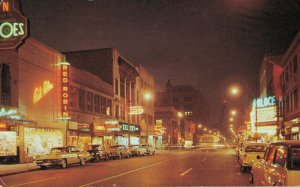 Canada Ontario Windsor Ouellette Ave at night 03.87