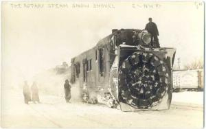 RPPC The Rotary Steam Snow Shovel, Chicago & North Western Ry #6401, AZO