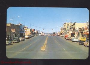 CORTEZ COLORADO DOWNTOWN STREET SCENE 1950's CARS 1950's CARS VINTAGE POSTCARD
