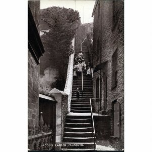 Dennis & Sons Ltd. Real Photograph Postcard 'Jacob's Ladder, Falmouth'