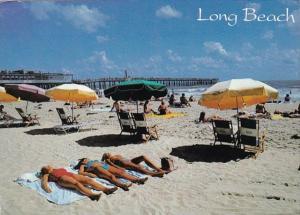 North Carolina Long Beach Girls In Bikinis Sunbathing 1992