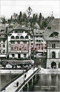 Modern Postcard Luzern Gasthaus zu mit Pfistern Zytturm