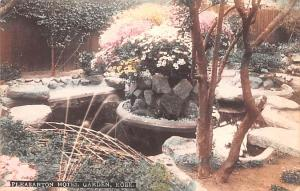 Japan Old Vintage Antique Post Card Pleasanton Hotel Garden Kobe Unused