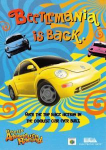Advert Postcard 1999 Nintendo 64 Electronic Arts Beetle Adventure Racing 43C