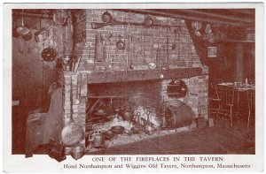 Northampton, Mass, One Of The Fireplaces In The Tavern, Hotel Northampton