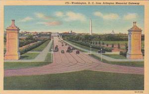 Washington DC From Arlington Memorial Gateway