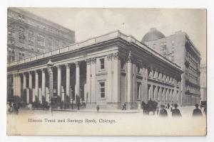 Chicago Illinois Trust and Savings Bank 1912 Postcard