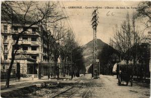 CPA GRENOBLE - Cours St-ANDRÉ - L'Octroi - Au fond - les Forts (489453)