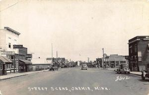 Onamia MN Storefronts Business District Tydol Gas Station RP Postcard