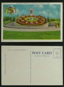 Niagara Falls Sir Adam Beck Memorial Floral Clock c 1950