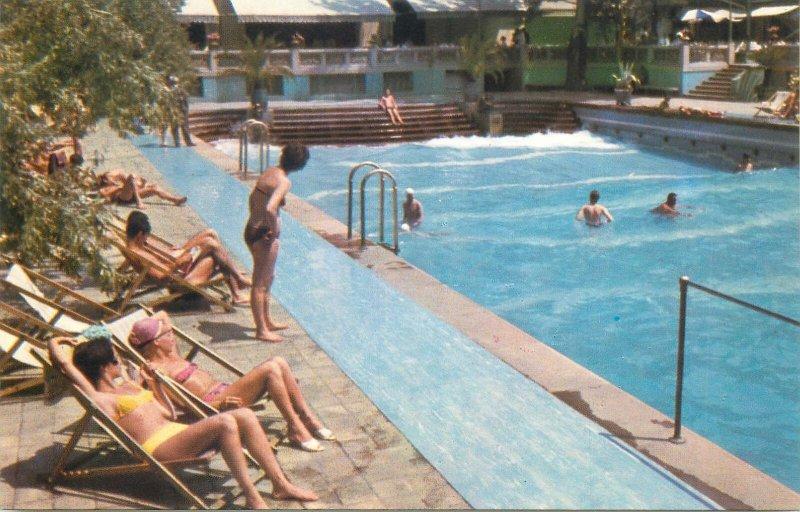 Postcard Romania RPR Bucharest Lido swimming pool