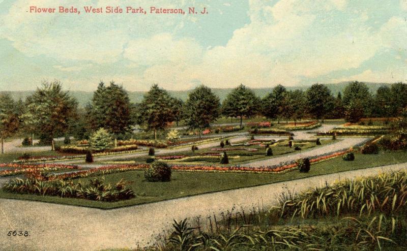 NJ - Paterson. West Side Park, Flower Beds