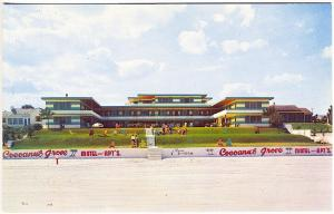 Daytona Beach FL Cocoanut Grove Beach Motel & Apartments on Ocean Postcard