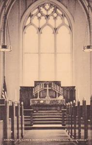California San Francisco Chapel Saint Luke's Hospitol